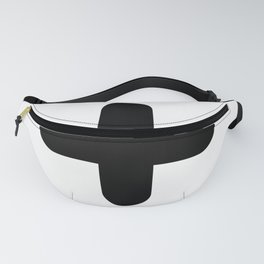 Black Plus Sign (rounded) Fanny Pack