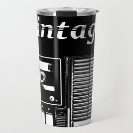 VINTAGE CASSETE TAPE PLAYER RADIO Travel Mug