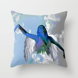 My Angel is a girl | Christmas Angel Spirit Throw Pillow