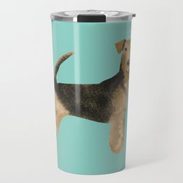 Airedale Terrier dog art cute gifts for dog lover pet friendly airedale terriers Travel Mug