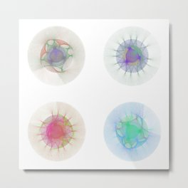 Orbital Mandalas 2x2 Array #1 Astronomy Print Wall Art Metal Print