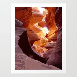 Light from the ground Art Print