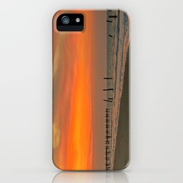 Sunset on Happisburgh Beach iPhone Case