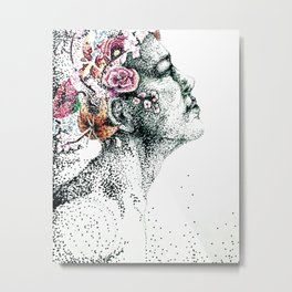 Mind Made Up of Flowers Metal Print