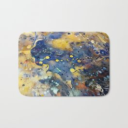 When Planets Align watercolor abstract by CheyAnne Sexton Bath Mat