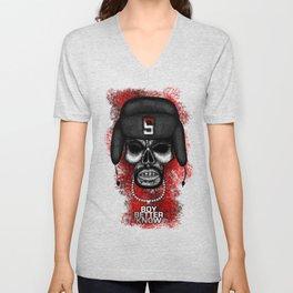 Skepta style Errorface skull Unisex V-Neck