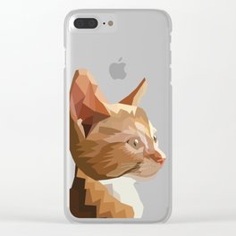 Geometric Kitten Digitally Crafted Clear iPhone Case