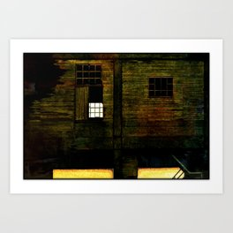 Deserted house Art Print