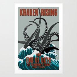 Kraken Rising Art Print