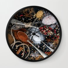 Wishing You a Spicy New year! Wall Clock