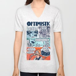 OPTIMISTIC Unisex V-Neck