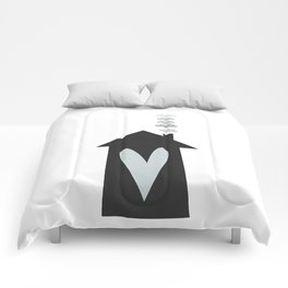 Home, Love, Illustration, Heart,  Comforters
