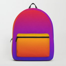 Colorful Gradient Pattern Neon Abstract Rainbow Backpack