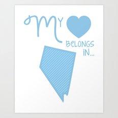 My Heart Belongs in Nevada Art Print