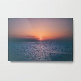 Beach Sunset // Landscape Photography Metal Print