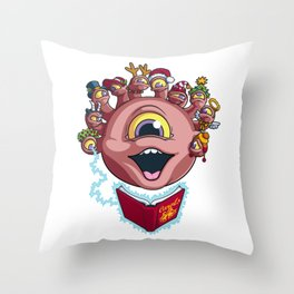 Behold the Seasonal Cheer Throw Pillow
