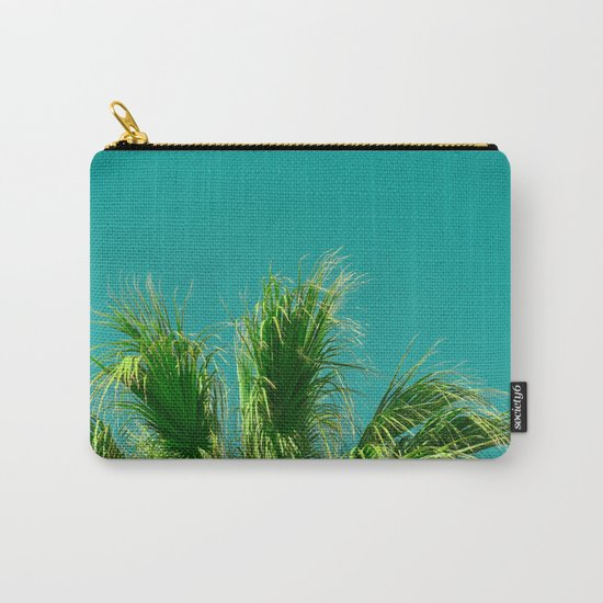Palms on Turquoise Carry-All Pouch