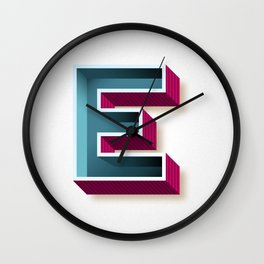 The Letter E Wall Clock