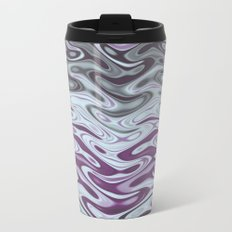 Ripples Fractal in Muted Plums Travel Mug