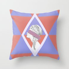 Blindfold Throw Pillow