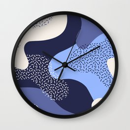 Abstract blue midnight Wall Clock