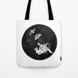 When jumping from an airplane just doesn't cut it anymore. Tote Bag