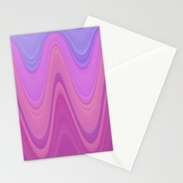 Layered Lavender and More in Pink, Fuchsia, Wavy Wine Stationery Cards