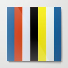 Ellsworth Kelly Red Yellow Blue White and Black Metal Print