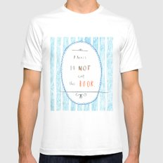 Please Don't Eat This Book Mens Fitted Tee MEDIUM White