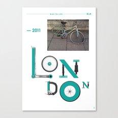 Bike to Life - London Canvas Print