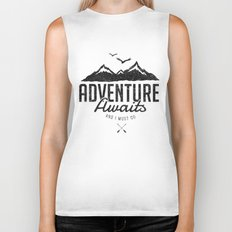 ADVENTURE AWAITS Biker Tank