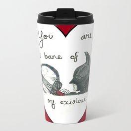 Caught in a Bat-Romance Metal Travel Mug