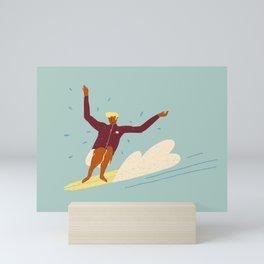 Surf buddy Mini Art Print