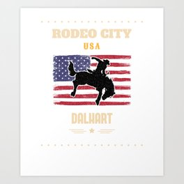 RODEO CITY USA, DALHART  Art Print