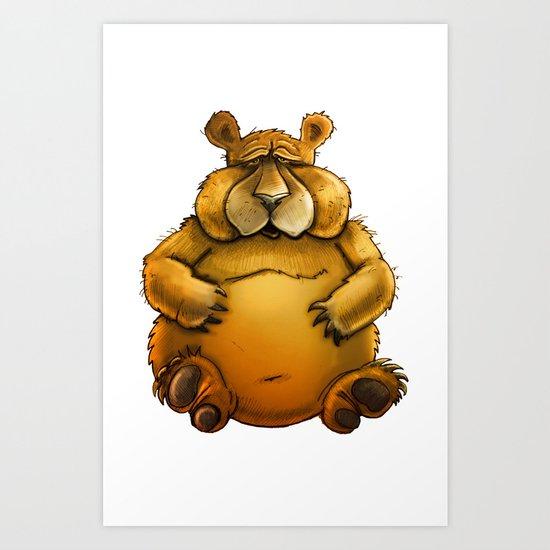 Beary sorry. Art Print