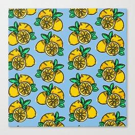 When life gives you lemons | Blue Canvas Print