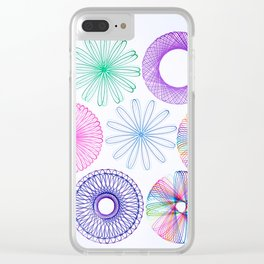 Spirograph 01 Clear iPhone Case