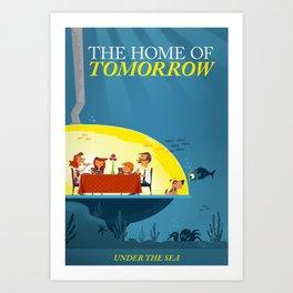 Undersea Home of Tomorrow Art Print