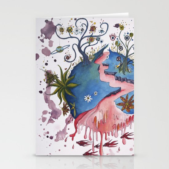 The strange planet Stationery Cards