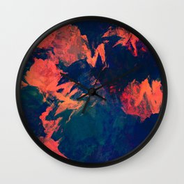 Stormy Kiss - abstract vintage painting Wall Clock