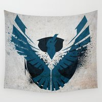 infamous Wall Tapestries featuring inFamous Second Son Good Karma 1 by Kyrsten Carlson