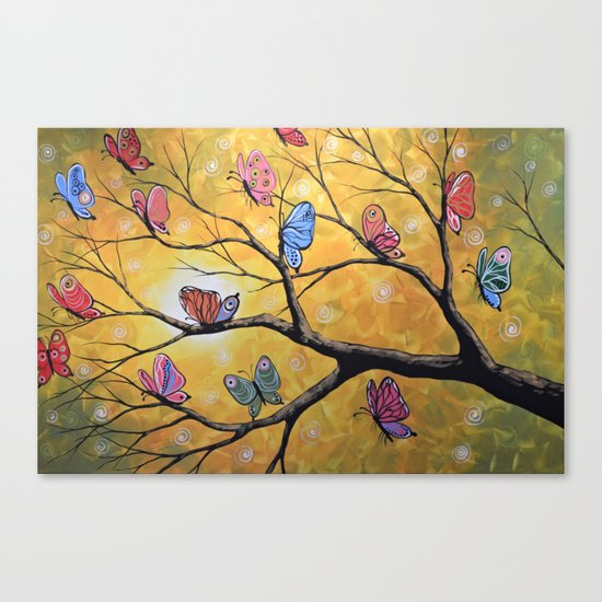 Butterfly Lights Canvas Print