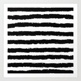 Painted Stripes - Black Art Print