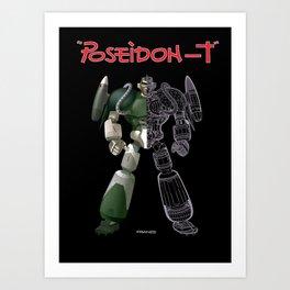 poseidon T Art Print