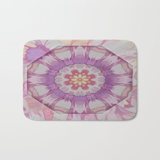 Soft Lavender Floral Kaleioscope Bath Mat