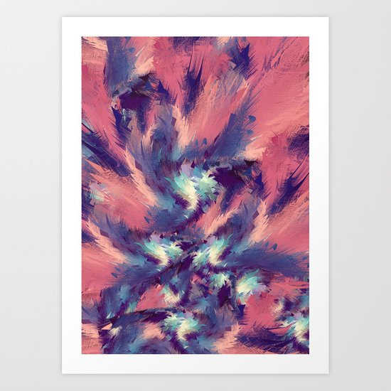 Colorful Energy Art Print