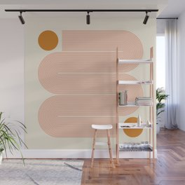 Abstraction_SUN_LINE_ART_Minimalism_002 Wall Mural