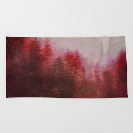 Dreamy Autumn Forest Beach Towel