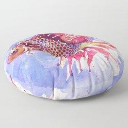 Fish Swirl Floor Pillow