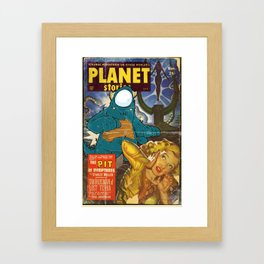 URBNPOP PLANET STORIES Framed Art Print